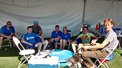 Team Tent in Rider Village